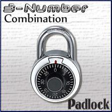 Combination Lock Dial Padlock Hardened 50mm Steel Gym Locker Bike School Bu 413l