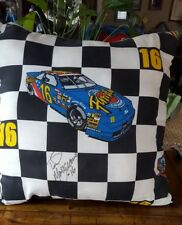 Winston Cup Nascar Ted Muskgrave #16 Size: (16'' X 16'') Checkered Flag Pillow