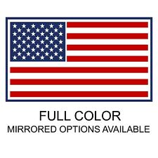 *FULL COLOR* USA American Flag Decal Sticker for Car Truck Jeep Bike and More