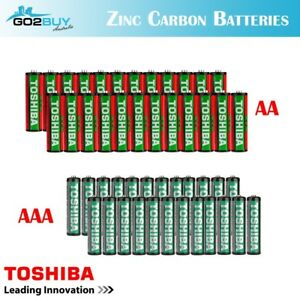 GENUINE TOSHIBA Zinc Carbon AA|AAA Cell Battery Super Long Lift Batteries