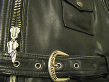 Harley Davidson Leather Motorcycle Jacket embossed Screaming Eagle XL Tall Long