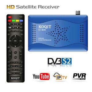 FTA Tuner DVB-S2 Satellite Receiver tv Box Internet Finder Sat Decoder Youtube