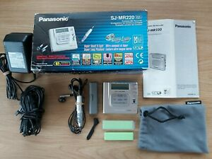Panasonic Portable MD Recorder SJ-MR220 in original box with extras