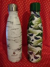 NEW 2 Pack Manna Vogue BIRCH & BUTTERFLY Vacuum Bottle 17oz Dbl Wall Hot Cold