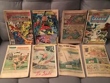 Vintage Comic Book Lot Without Covers 8 Aquaman Justice League/Tragg