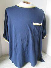 Old Vintage Blue Yellow Ringer T-Shirt Tam O'Shanter Taiwan Size Large