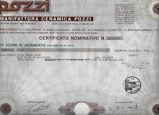 1973* MILANO CERAMICA POZZI   AZIONE   DELLA BORSA VALORI DI MILANO * ORIGINALE