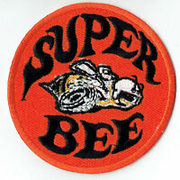 Hot Rod Patch Super Bee Badge Drag Race Muscle Classic Car Jacket iron On black