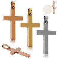 Kreuz Kettenanhänger Kruzifix Klein Edelstahl Halskette Kette Anhänger Unisex