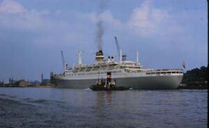 1958 Holland America Line  Passenger Ship Statendam Original Amateur Color Slide