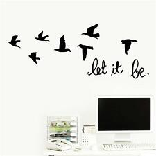 Let It Be Quote Inspirational Letters Vinyl Wall Sticker Home Removable Decal