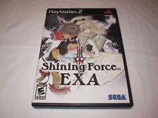 Shining Force EXA (Playstation PS2) Black Label Original Complete Excellent!