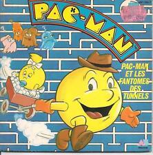 LIVRE DISQUE--AB PRODUCTIONS--PAC-MAN ET LES FANTOMES DES TUNNELS--1984