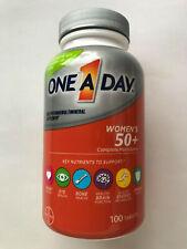 One A Day Women's 50+ Complete Multivitamin 100 Tablets EXP 10/2021 Heart Eye Bo