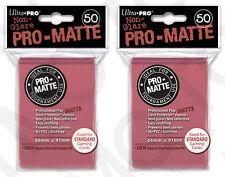 100 2pk ULTRA PRO Pro-Matte Deck Protector Card Sleeves Magic Standard Fuchsia
