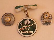 3 Schützenabzeichen 1. Ritter 1966-68-69 Schützenmedaillen