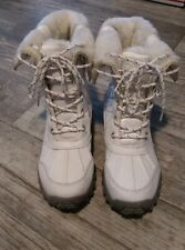 Women's White Winter Boots Size 7.5