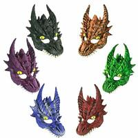 Adult Dragon Mask Halloween Fantasy Game Of Thrones Costume Accessory Red Black