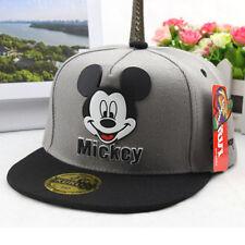 Niño Niña Gorra Mickey Minnie Mouse Béisbol exterior Puntiagudo ajustable