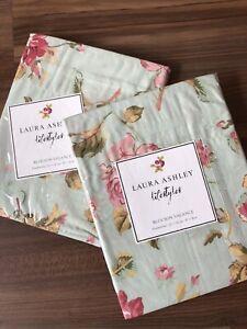 NEW 2 Laura Ashley Blouson Valances Lifestyles Applemint Green Floral Cottage