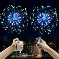200 LED Firework Hanging Starburst Fairy String Light Wedding Party Home Decor