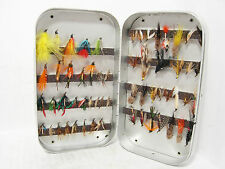 Vintage Wheatley Magnetic Fly Box + 58 x Trout Flies