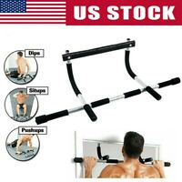 Heavy Duty Doorway Chin PullUp Bar Sports Exercise Fitness Gym Home Door Mounted