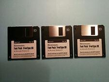 Bitstream Font Pack TrueType 80 per Windows 3.1 in 3 floppy Originali (Vintage)