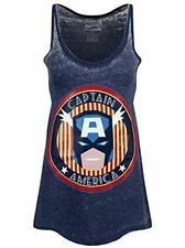 Marvel Comics Retro Female Shirt Captain America Stars Anf Stripes Tankfemale SH M