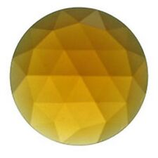 Stained Glass Supplies - Jewels -JEWEL-25mm ROUND-LT AMBER (35610) FREE SHIPPING