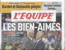 L'EQUIPE n°23362 13/07/2018  Coupe du monde_Deschamps & Jacquet_Tour de France