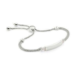 Monica Vinader Baja Deco ID Diamond bracelet. RRP £325 / 99p Start!
