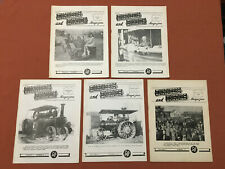 Engineers & Engines Magazine - Lot of 5 Issues from 50s-60s - Steam/Gas Tractors
