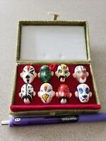 Vintage Chinese Opera Miniature Hand Painted Character Face Masks collectors