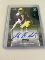 Jake Breeland Auto 2020 Leaf Draft Rookie Card Autograph FREE SHIP Oregon Ducks