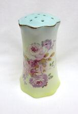 Vintage Porcelain Hatpin Holder / Display ~ Pastel Aqua Pink Roses ~ Never Used