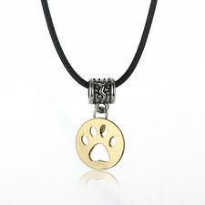 Gothic Cute Pet Paw Dog Necklace Pendant Charm Jewelry Gold Plated Gift Girl New