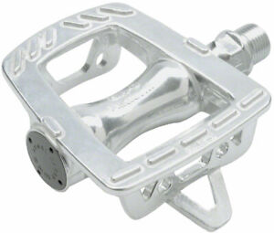"MKS GR-9 Pedals - Platform, Aluminum, 9/16"", Silver"