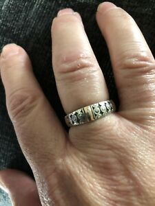 Gorgeous Suarti 925 Sterling Silver Patterned Ring Size O
