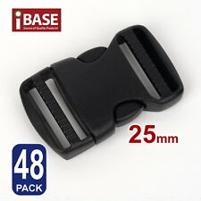 48x Quick Release Buckle Clip Side Cord Strap Fastener Belt Dual Adjustable 25mm
