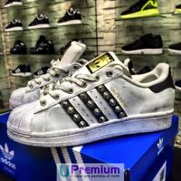 Adidas Superstar Borchiate Bianche Nere 2018 Scarpe ORIGINALI 100% ® ITALIA 2018