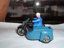BUDGIE TOYS ENGLAND RAC MOTORBIKE MISSING ITS COVER TOP ON THE SIDECAR SEE PICS