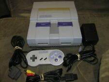 Super Nintendo SNES System Console 1chip 01 1 controller Tested Good SHAPE!