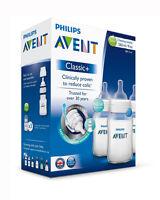 PHILIPS AVENT CLASSIC+ FEEDING BOTTLE TRIPLE PACK 3 X 260ml / 9oz SCF563/37 BN