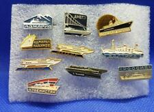 10 Lot Ship Boat Submarine Russia Soviet USSR Pin Badge Old 4