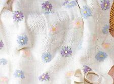 Knitting Pattern Baby's Lazy Daisy Blanket!!    (23)