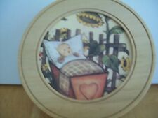 Vintage Lillian Vernon Hanging Brahms Lullaby Box w/Hummel Drawing West Germany