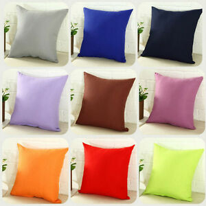40x40cm Cotton Solid Pillowcase Pillow Cover Sofa Waist Cushion Throw Decor A4