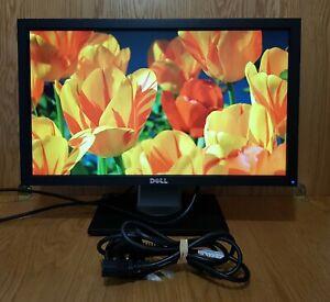 """Dell 20"""" inch DVI (HDCP) VGA USB Hub Widescreen Monitor. DELL P2011Ht"""