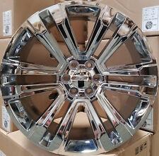24 GMC Replica Rims Chrome 2018 Style Wheels Fit Tahoe Sierra Yukon Silverado
